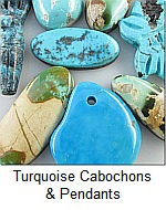 Turquoise Cabochons and Pendants