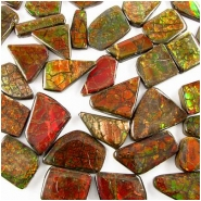 1 Ammolite triplet free form cabochon gemstone 10 x 23mm to 25 x 39mm 4 to 6mm thick