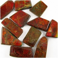 1 Ammolite triplet free form cabochon gemstone 17 x 31mm to 32 x 44mm 4 to 6mm thickCLOSEOUT