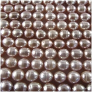 Pearl mauve baroque puff rice beads 5.6 to 5.8mm 16 inch
