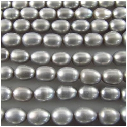 Pearl silver gray baroque potato beads 5.3 to 5.8mm 16 inch