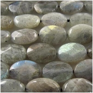Labradorite faceted oval gemstone beads (N) 10 x 14mm 16 inchCLOSEOUT