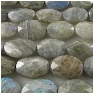Labradorite faceted oval gemstone beads (N) 13 x 18mm 16 inchCLOSEOUT
