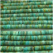 Turquoise Maan Shan heishi gemstone beads (S) 3.9 to 4.1mm 16 inch