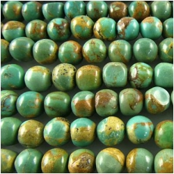 Turquoise Maan Shan round roundel gemstone beads (S) 5.7 to 6.1mm 15.5 inch