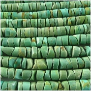 Turquoise Maan Shan heishi gemstone beads (S) 4 to 5mm 15.5 inchCLOSEOUT