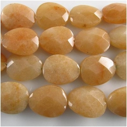 Orange Aventurine faceted wide drop gemstone beads (N) 18 x 21mm  15.5 inch