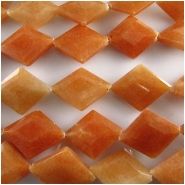 Orange Aventurine faceted diamond rhombus gemstone beads (N) 15 x 20mm  15.5 inch.