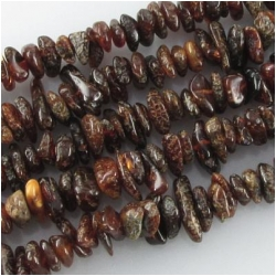 Amber Baltic dark chip nugget gemstone beads Super sale (N) Approximate size 4 x 6mm to 6 x 9mm 16 inch , limit one per purchase