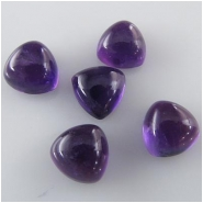 2 Amethyst plain trillion loose cut cabochon gemstones (N) Approximate size 8mm
