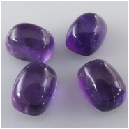 2 Amethyst puff rectangle loose cut cabochon gemstones (N) Approximate size 6 x 8mm