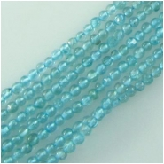 Apatite round gemstone beads  (N) Approximate size 2.5 to 2.8mm 13.5 inch