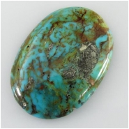 1 Turquoise Kingman cabochon gemstone (S) Approximate size 28 x 39.6mm 5.9mm deep