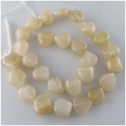 Moonstone light peach drop gemstone beads (N) Approximate size range 10 x 11mm to 14 x 14mm 14 inch