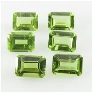 1 Peridot octagon loose cut gemstone (N) Approximate size 5 x 7mm