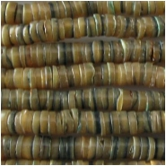Abalone heishi disc shell beads (N) Approximate size 5mm 15.7 inch