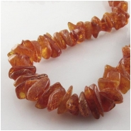 Amber Baltic graduated chip nugget gemstone beads (N) Approximate size 7 x 8mm to at least 9 x 14mm 26 inch