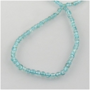Apatite tiny round gemstone beads (N) Approximate size 2.8 to 3.1mm 14 inch