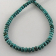 Turquoise Hubei rondelle gemstone beads (S) Approximate size 4mm 16 inch
