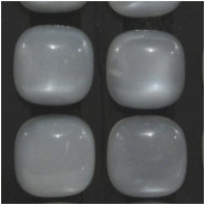 2 Moonstone silver AAA cats eye chatoyant rounded square loose cut gemstone cabochons (N) Approximate size 12mm