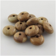 35 Scene jasper puff rondelle big hole gemstone beads (N) Approximate size 10mm 2mm hole