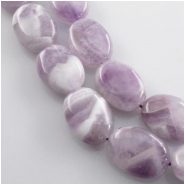 Amethyst banded lavender oval gemstone beads (N) Approximate size 13.5 x 17mm to 14 x 18mm 15.5 inch