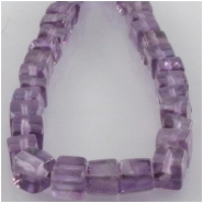 Amethyst cube gemstone beads (N) Approximate size 3.8 to 4mm 8 inch