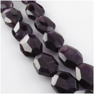Amethyst faceted hexagon cushion gemstone beads (N) Approximate size 13 x 14mm to 16 x 18mm 15.5 inch