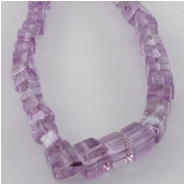 Amethyst cube gemstone beads (N) Approximate size 4 to 4.5mm 8 inch