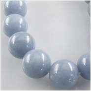 Angelite round gemstone beads (N) Approximate size 10mm diameter 15.7 inch