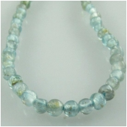 Apatite B tiny round gemstone beads (N) Approximate size 2.3 to 2.7mm 13.5 inch