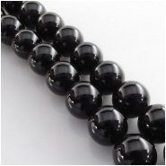15 Black Onyx 2mm big hole round gemstone beads (DH) Approximate size 12mm diameter