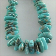 Turquoise Campitos graduated pebble nugget with pyrite gemstone beads (S) Approximate size 4 x 5mm to 5 x 9mm 18 inch