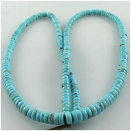 Turquoise Campitos graduated rondelle gemstone beads (S) Approximate size 4mm to 5.3mm 18 inch