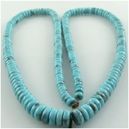 Turquoise Campitos graduated rondelle gemstone beads (S) Approximate size 4mm to 7mm 18 inch