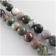 20 Fancy Jasper 2mm big hole faceted round gemstone beads (N) Approximate size 10mm diameter