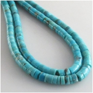 Turquoise Hubei blue heishi gemstone beads (S) Approximate size 4 to 4.5mm 15.7 inch