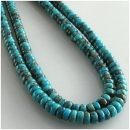 Turquoise Hubei rondelle gemstone beads (S) Approximate size 4 to 4.5mm 15.8 inch