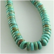 Turquoise Hubei rondelle gemstone beads (S) Approximate size 6mm 15.5 inch