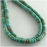 Turquoise Hubei rondelle gemstone beads (S) Approximate size 4mm 15.5 inch