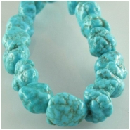 Turquoise Hubei nugget gemstone beads (S) Approximate size 5 x 6mm to 6 x 7mm 15.2 inch