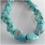 Turquoise Hubei nugget gemstone beads (S) Approximate size range 7 x 8mm to at least 8.5 x 10mm 16 inch