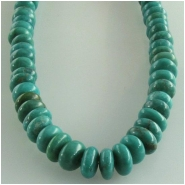 Turquoise Hubei rondelle gemstone beads (S) Approximate size 6mm 16 inch