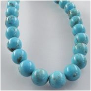Turquoise Hubei round gemstone beads (S) Approximate size 7mm 16 inch