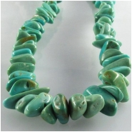 Turquoise Kingman nugget gemstone beads (S) Approximate size 5 x 6.5mm to at least 6.5 x 9mm 16 inch