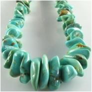 Turquoise Kingman graduated nugget gemstone beads (S) Approximate size 4 x 4.5mm to at least 6 x 11.5mm 16 inch