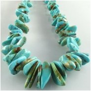 Turquoise Kingman graduated nugget gemstone beads (S) Approximate size 3.3 x 3.5mm to at least 5 x 13mm 16 inch