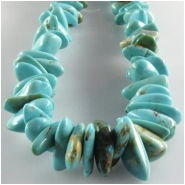 Turquoise Kingman graduated nugget gemstone beads (S) Approximate size 3 x 4mm to at least 6 x 12.5mm 16 inch