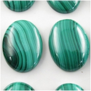 1 Malachite AA oval cabochon gemstone (N) Approximate size 14.7 x 20mm to 15.2 x 20mm