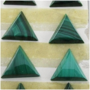 2 Malachite triangle cabochon gemstones (N) Approximate size 10.9 to 11.2mm